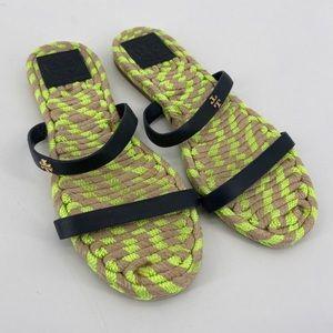 TORY BURCH | woven sandal slides